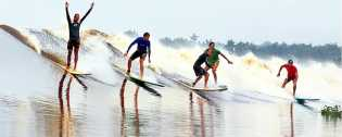 bono eksotisme gelombang sungai kampar
