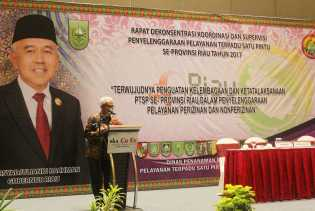 Pelaksanaan Rapat Dekonsentrasi Koordinasi dan Supervisi Penyelenggaraan Pelayanan Terpadu  Satu Pintu Se-Provinsi Riau Tahun 2017