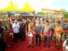 jembatan pedamaran i dan ii diresmikan ( ikon kabupaten rokan hilir )